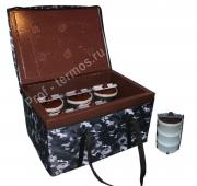 Термоконтейнер групповой на 6 комплектов с пластиковыми судками
