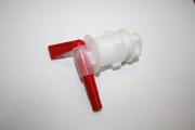 Кран пластиковый (красный)